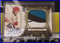 18/19 Joe Thornton UD The Cup Auto Patch Limited Logos 3 Color Signature 16/25