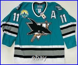 1997 Owen Nolan San Jose Sharks CCM Authentic Game Jersey Size 48 New With Tags