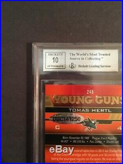 1/1 Tomas Hertl Upper Deck Young Guns Exclusives Rookie Buybacks Auto a true 1/1