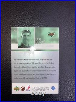 2003 Upper Deck Young Guns #221 Brent Burns Rookie RC Canadian Exclusive #36/50