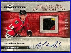 2007-08 Ud Fleer Hot Prospects Jonathan Toews Rpa Rc Patch Auto Sp 60/199