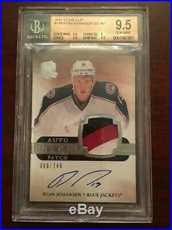 2011-12 UD The Cup RYAN JOHANSEN Auto 3C Patch Jersey RC Rookie /249 BGS 9.5