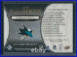 2018-19 The Cup Limited Logos TOMAS HERTL Patch/Auto 15/50 LL-TH SJ Sharks