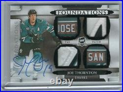 2018-19 Ud The Cup Foundations Dual Tag/patch Auto Joe Thornton 1/1