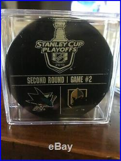 2018 Stanley Cup San Jose Sharks VS Las Vegas golden knights Used Warm-Up Puck