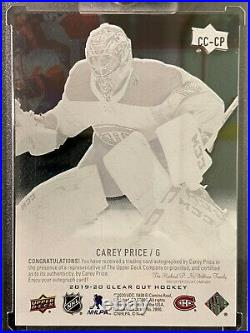 2019-20 Upper Deck Clear Cut Carey Price Auto Sp Montreal Canadiens