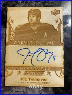 2019-20 Upper Deck Engrained Carved in Time Signatures #CTS14 Joe Thornton C