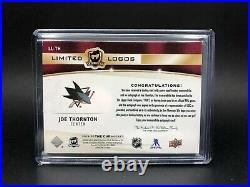 2019-20 Upper Deck The Cup Limited Logos Patch Auto Joe Thornton /25