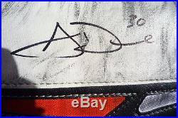 Aaron dell rookie 2016-17 game-used signed glove and blocker san jose sharks