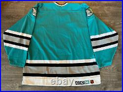 Authentic Game Issued 1991/92 San Jose Sharks Team Old Stock Teal Jersey 54 CCM
