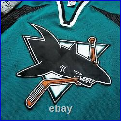Authentic MiC San Jose Sharks 10th Anniversary Koho Jersey Made In Canada 56