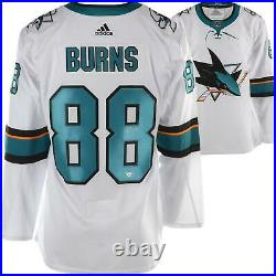 Brent Burns San Jose Sharks Autographed White Adidas Authentic Jersey