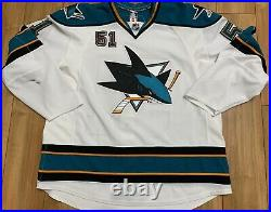 Brian Campbell 07-08 San Jose Sharks Game Worn Jersey with Team Tagging
