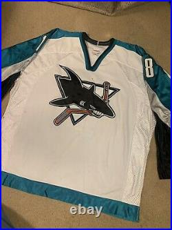 CCM Center Ice San Jose Sharks Vintage Jersey Mike Ricci Size 54 Game Authentic