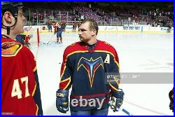 Jeff Odgers Game Worn Used Atlanta Thrashers Jersey, Repairs, (A) Photo Matches
