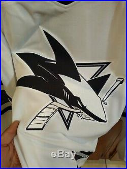 NHL San Jose Sharks adidas Authentic 2019 All-Star Game White Parley Jersey 54