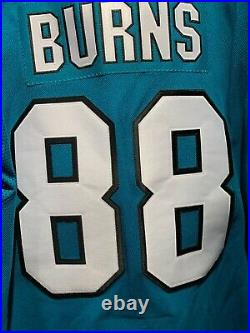 NWT Brent Burns #88 Teal San Jose Sharks Adidas Authentic Jersey in size 50