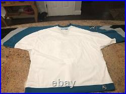 SJ SHARKS AUTOGRAPHED 10th ANNIVERSARY JERSEY ON ICE GAME JERSEY RARE