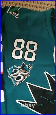 San Jose Sharks #88 Burns Authentic Home Teal Jersey Size 50 CCM