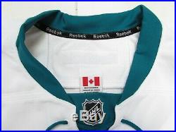 San Jose Sharks Authentic Away Team Issued Reebok Edge 2.0 7287 Jersey Size 56