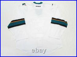 San Jose Sharks Authentic Away Team Issued Reebok Edge 2.0 7287 Jersey Size 58+
