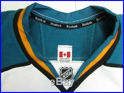 San Jose Sharks Authentic Old Away Team Issued Reebok Edge 2.0 7287 Jersey Sz 54