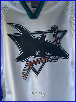 San Jose Sharks Bryan Marchment CCM #27 52 Authentic Hockey Jersey With Strap