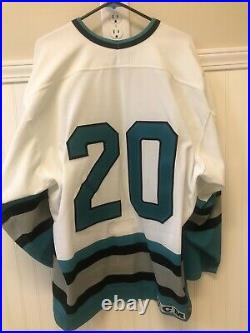 San Jose Sharks CCM Center Ice Authentic Size 52 Mid-90s Home Nhl Hockey Jersey