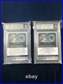 Tomas Hertl UD The Cup RPA Rookie Patch Auto Lot BGS Graded San Jose Sharks