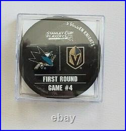 USED WARM UP PUCK / Vegas Golden Knights vs San Jose Sharks / Stanley Cup 2019