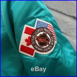 Vintage New 90s San Jose Sharks Satin Jacket by Chalk Line Size L Made in USA