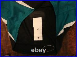 Vintage Worcester Sharks AHL Hockey Authentic fight strap Jersey 56